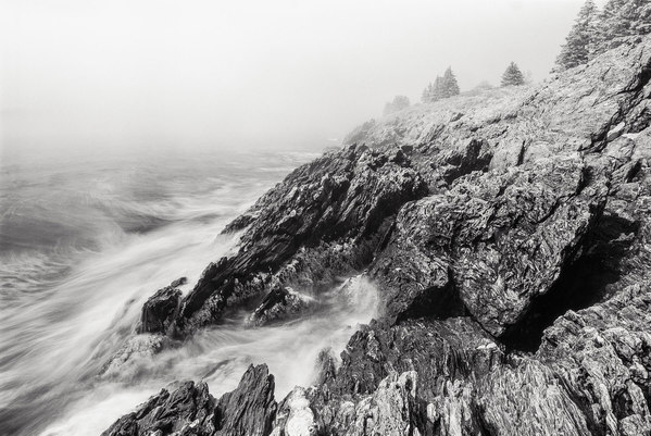 Storm, North Shore Cliff Island, Maine